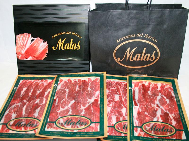 Cajas regalo con productos ibéricos para Navidad - Jamón Ibérico Matas -